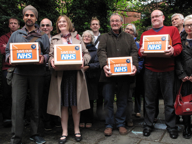 NHS Petition Hand-in: Nick Clegg
