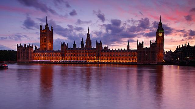 parliament dusk